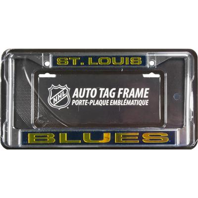 NHL Laser Cut Chrome License Plate Frame