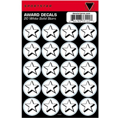 White Solid Star Decal Sheet