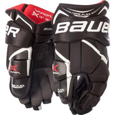 Black/White (Bauer Vapor 1X Hockey Gloves - Junior)
