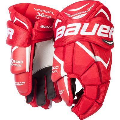 Red (Bauer Vapor X800 Hockey Gloves)