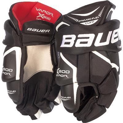 Black (Bauer Vapor X800 Hockey Gloves)