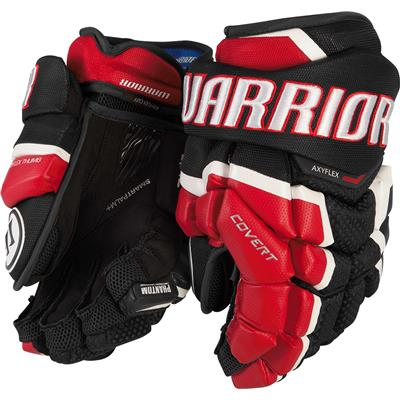 Black/Red/White (Warrior Covert QRL Hockey Gloves - Senior)