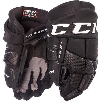Black/Black (CCM QuickLite 270 Hockey Gloves)