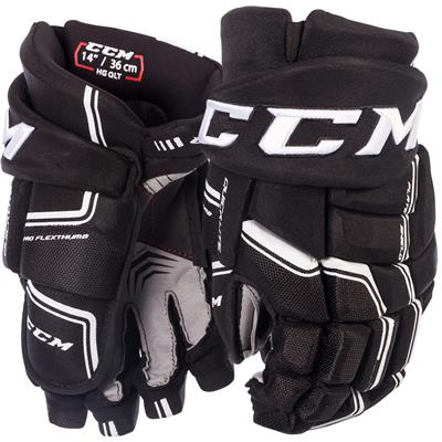 Black/White (CCM QuickLite Hockey Gloves)