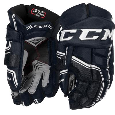 Navy/White (CCM QuickLite Hockey Gloves)
