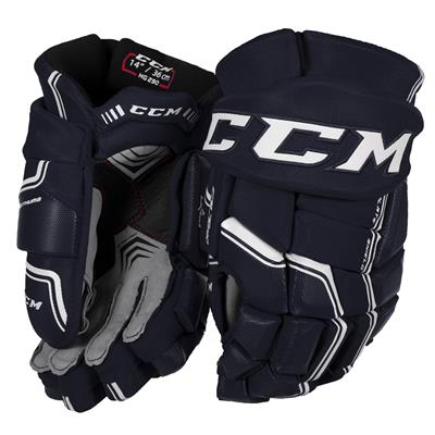 Navy/White (CCM QuickLite 290 Hockey Gloves)