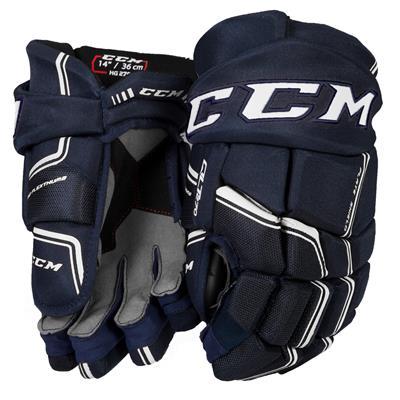 Navy/White (CCM QuickLite 270 Hockey Gloves - Senior)