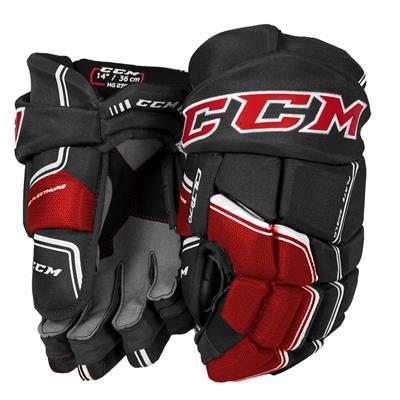 Black/Red/White (CCM QuickLite 270 Hockey Gloves - Senior)
