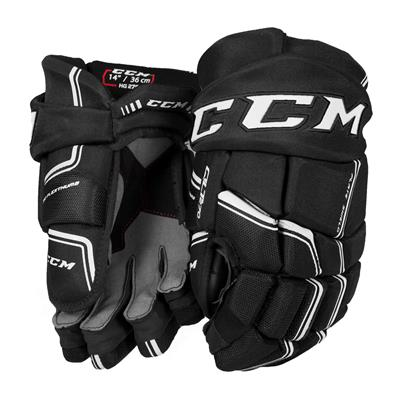 Black/White (CCM QuickLite 270 Hockey Gloves)