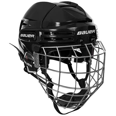 Black/Black (Bauer RE-AKT 75 Hockey Helmet Combo)