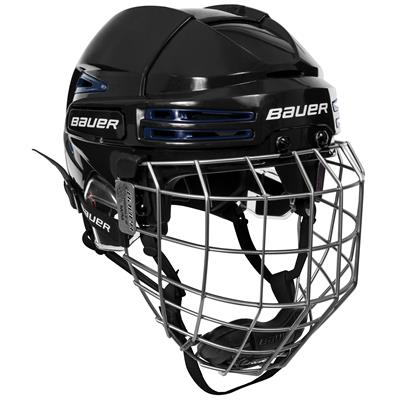 Black/Navy (Bauer RE-AKT 75 Hockey Helmet Combo)