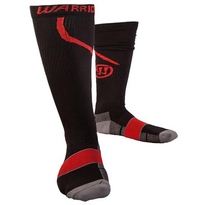 Black/Red (Warrior Compression Pro Skate Socks - Adult)