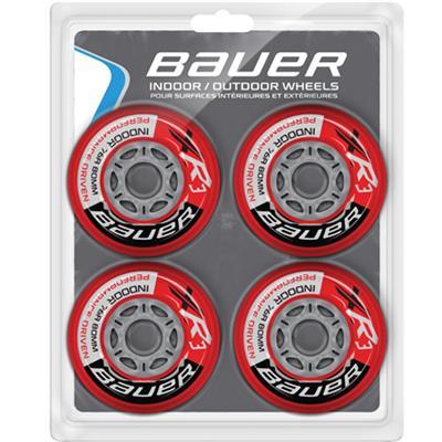Bauer XR3 Indoor Inline Hockey Wheels (Bauer XR3 Indoor Inline Hockey Wheels - 4 Pack)