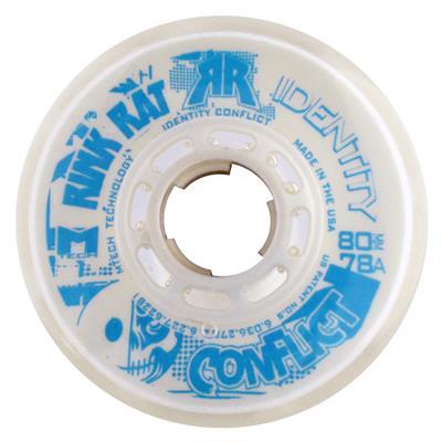 Rink Rat Identity Conflict Inline Hockey Wheels (Rink Rat Identity Conflict Inline Hockey Wheels - White/Blue)