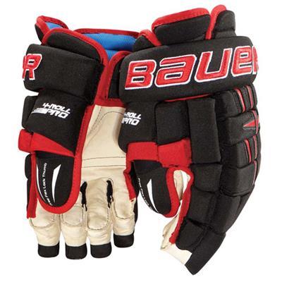 Bauer 4-Roll Pro Team Hockey Gloves (Bauer 4-Roll Pro Team Hockey Gloves)