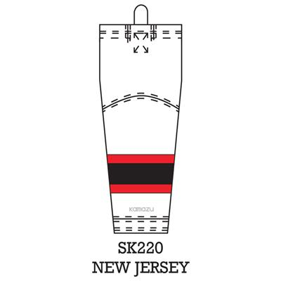 Kamazu FlexxICE LITE SK140 NHL NJ (FlexxICE LITE SK140 NHL Team Hockey Socks - New Jersey Devils)