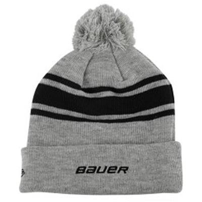 Bauer Team Striped Pom (Bauer Team Striped Pom Beanie - Adult)