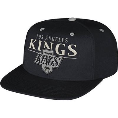 CCM VG86Z Flat Brim Snapback Hockey Hat (CCM Flat Brim Snapback Hockey Hat - Los Angeles Kings)