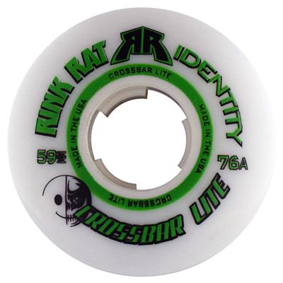 Rink Rat Identity Goalie Crossbar Lite (Rink Rat Rink Rat Identity Goalie Crossbar Lite Inline Hockey Wheels - White/Green)