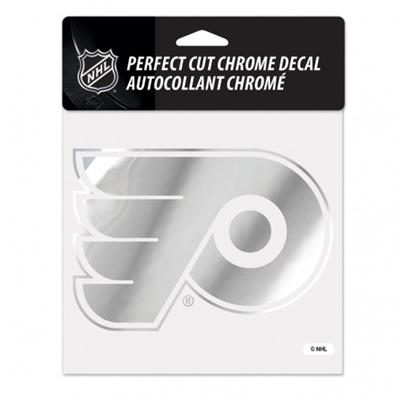 Chrome Decal - Philadelphia Flyers (Wincraft Perfect Cut Hockey Chrome Decal)