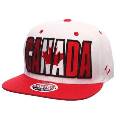 Zephyr Backdrop Snapback Hockey Hat - Canada (Zephyr Backdrop Snapback Hockey Hat - Canada)