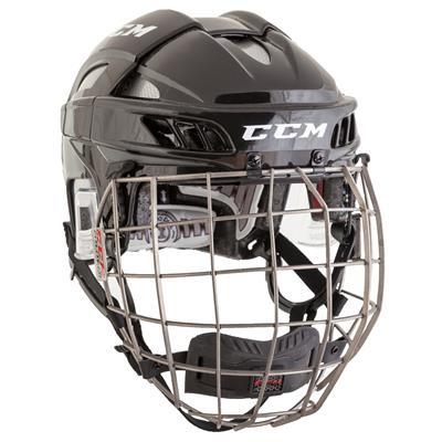 Black/Silver (CCM FITLITE Helmet Combo)