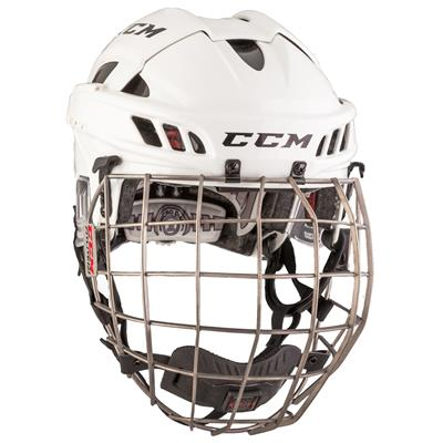 White/Black (CCM FITLITE Hockey Helmet Combo)