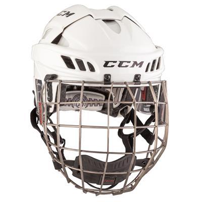 White/White (CCM FITLITE Helmet Combo)