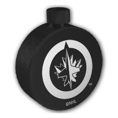 Lucky Puck Hockey Black Flask (Hockey Black Flask - Winnipeg Jets)