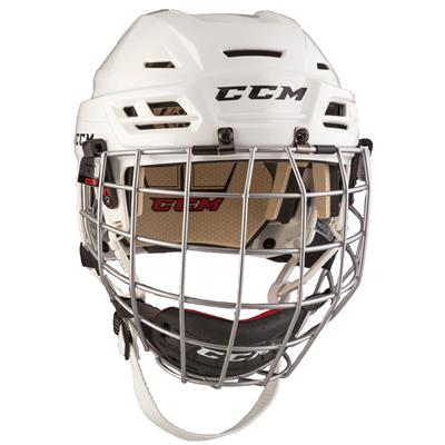 White (CCM RES 110 Hockey Helmet Combo)