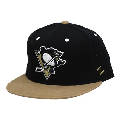 Forecheck Fitted Hat PIT (Zephyr Forecheck Fitted Hockey Hat - Pittsburgh Penguins)