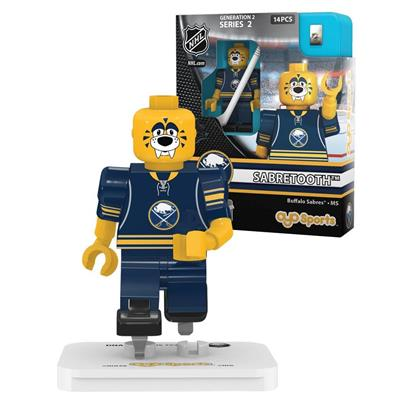 Sabertooth Minifigure BUF (OYO Sports Sabertooth Minifigure - Buffalo Sabres)