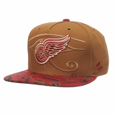 Luxor Five Panel Hat DET (Zephyr Luxor Five Panel Adjustable Hockey Hat - Detroit Red Wings)