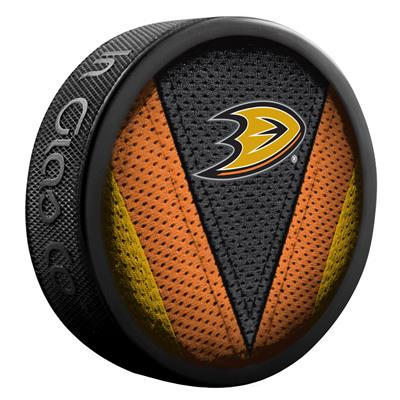 NHL Stitch Souvenir Puck ANA (Sher-Wood NHL Stitch Souvenir Puck - Anaheim Ducks)
