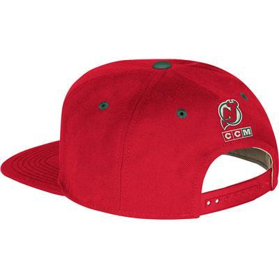 VG86Z Flat Brim Hat NJD (CCM Flat Brim Snapback Hockey Hat - New Jersey Devils)