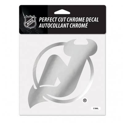 Perfect Cut Chrome Decal NJ (Wincraft Perfect Cut Hockey Chrome Decal)