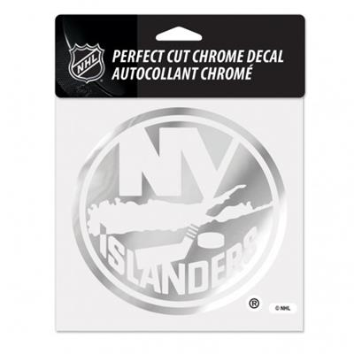 Perfect Cut Chrome Decal NYI (Wincraft Perfect Cut Hockey Chrome Decal)