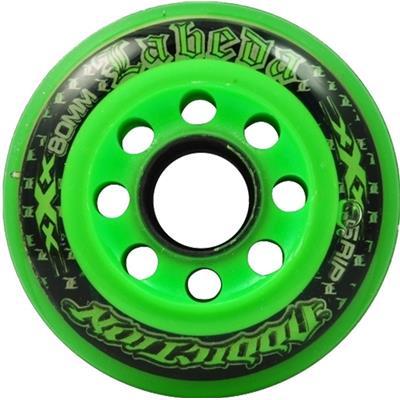 Addiction XXX Wheels (Labeda Addiction XXX Inline Hockey Wheels - Black/Orange)