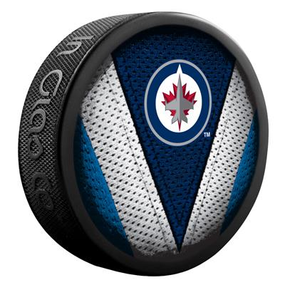 NHL Stitch Souvenir Puck WIN (Sher-Wood NHL Stitch Souvenir Puck - Winnipeg Jets)