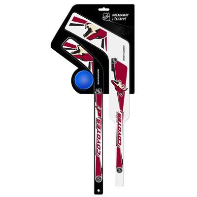 Gen II Mini Stick w/ Ball PHO (Sher-Wood Breakaway 3 Piece Mini Goalie & Player Stick with Foam Ball - Arizona Coyotes)