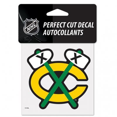 Perfect Cut Decal CHI (Wincraft Perfect Cut Hockey Decal)