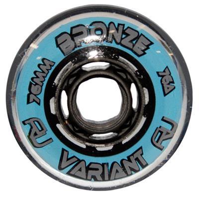 Variant Bronze Indoor Wheels (Revision Variant Bronze Indoor Inline Hockey Wheels - Blue/Silver)