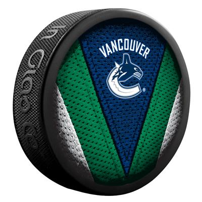 NHL Stitch Souvenir Puck VAN (Sher-Wood NHL Stitch Souvenir Puck - Vancouver Canucks)