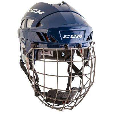 Navy/Silver (CCM Fitlite FL80 Hockey Helmet Combo)