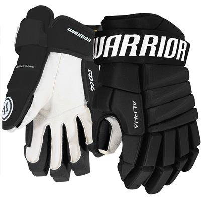 Black (Warrior Alpha QX4 Hockey Gloves - Senior)