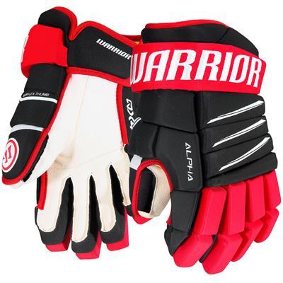 Black/Red/White (Warrior Alpha QX4 Hockey Gloves)