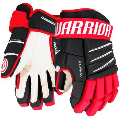 Black/Red/White (Warrior Alpha QX4 Hockey Gloves)