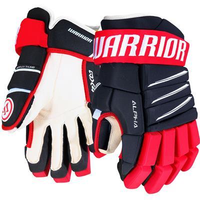 Navy/Red/White (Warrior Alpha QX4 Hockey Gloves)