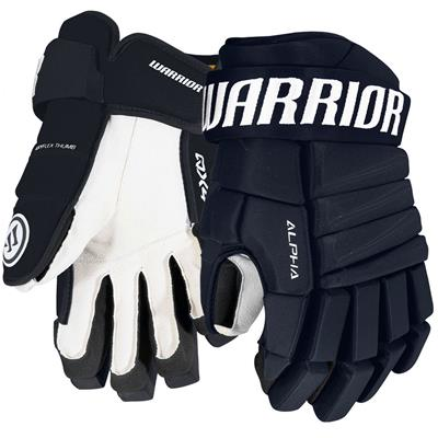 Navy (Warrior Alpha QX4 Hockey Gloves - Senior)