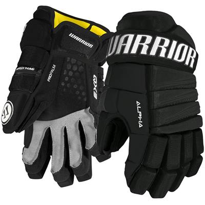 Black (Warrior Alpha QX3 Hockey Gloves - Youth)